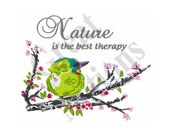 Nature Is Therapy - Machine Embroidery Design