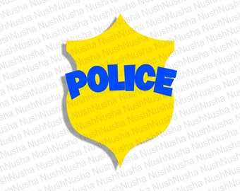 Police badge SVG, DXF, PNG, eps, cdr, Vector, Digital Cut File