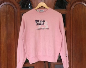 Rare FILA pullover spellout sweatshirts/pink/large size