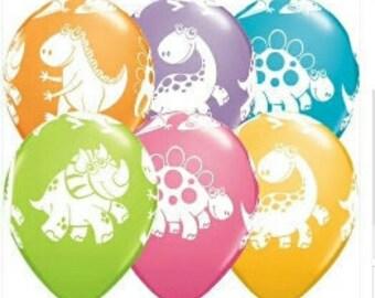 Dinosaur Balloons, Dinosaur Party, Dino Theme, 28cm Balloons, Pkt 5