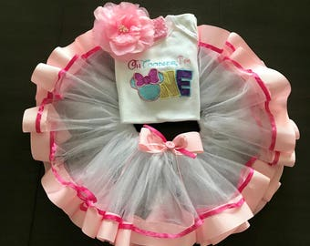 Birthday Outfit, Minnie outfit,1st birthday girl, birthday gift, First Birthday outfit for a girl.Tutu Outfit, Custom made