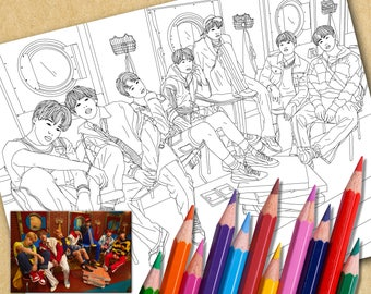 BTS Printable Coloring Page | Love Yourself (E)