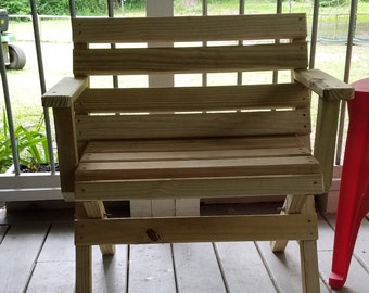 Wooden bench - Patio furniture- Yard furniture- Wood furniture- Solid wood furniture