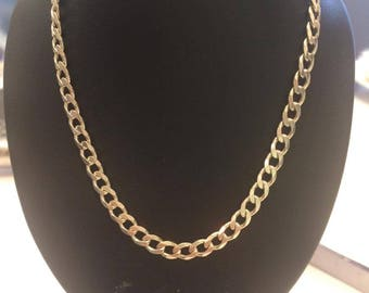 20 inch sterling silver curb chain