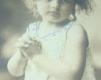 RPPC of Cute Little Girl