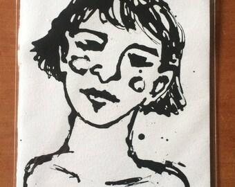 A5 Original Ink Artwork - Dreamer