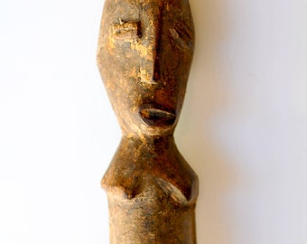 Hand Carved Wooden Lobi Ancestor Figure from Burkina Faso  - West African Wood Carving - LB41