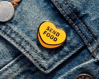 Send Food Sugar Heart Enamel Pin