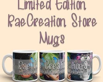 Limited Edition Store Mugs, Tea Mugs, Coffee Mugs, Art Mugs, Coffee Cup, Tea Cup, RaeCreations Mugs, Collage Mug, Surreal Art Mug