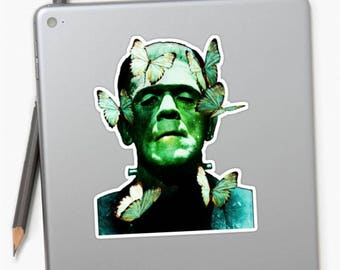 Frankenstein Sticker, Frankenstein Decal, Monster Sticker, Monster Decal, Planner Stickers, Vintage Stickers, Butterfly Stickers