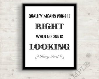 Henry Ford Quote, Inspirational Graphic Decor Picture, Modern Art Print, Affordable Decorating,  Home Decor, Office Decor, Gift Idea