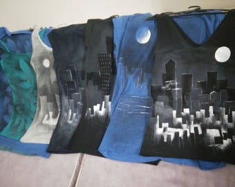 Hand Painted Cityscape Top - Unique