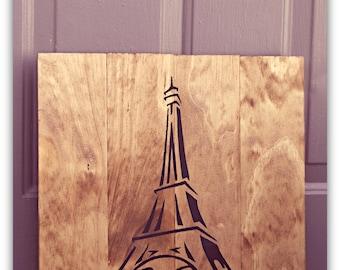 Eiffel Tower, Paris - Wooden Sign