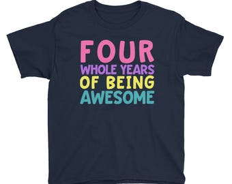 4th Birthday Party Shirt - Four Year Old Shirt for Girls - Birthday Shirt for Girls 4 - Birthday Girl Shirt 4 Fourth Birthday Gift Shirt