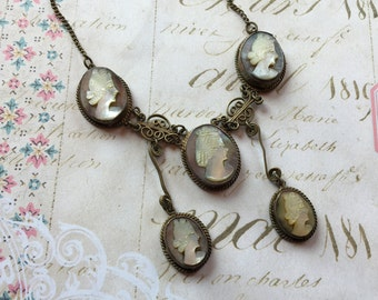 Vintage Cameo Necklace, Vintage Jewelry, Women's Jewelry, Gift For Her