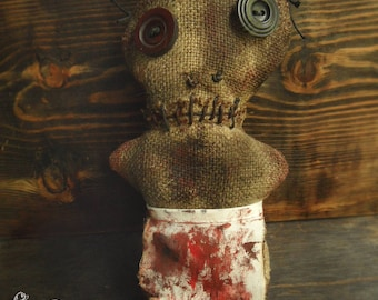 Voodoo/ Goth /Gothic / Doll Textile /Scary/Creepy /Voodoo Doll /Horror Doll /Horror Art