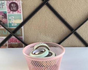 Pink Petite- Mini Mesh Paperclip Holder | Washi Tape Holder | Desk Decor | Desk Organization | Desk Accessory|Desk Tray|Dorm Decor|Bujo|Gift