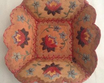 Margret Hill Ojibwe Birchbark and Sweetgrass Basket