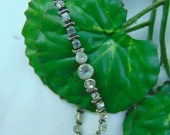 Vintage, Bracelet, Minus 1940, Rhinestone, Shipping Included