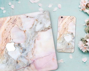 HOT->> Macbook and iPhone cases gold marble case macbook pro 2016 & Case iPhone 7 plus macbook pro 15 case + iPhone Case Marble