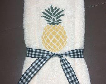 Pineapple Ivory Hand Towel Set (2)