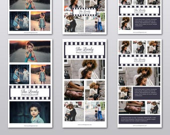 Blog Board / Photo Collage / Social Media Collage Template / Instagram Template / Pinterest Template / Photography Marketing