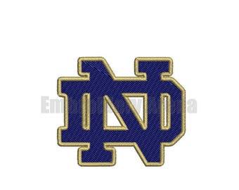 Football embroidery design - (Notre Dame) - instant DOWNLOAD digital file
