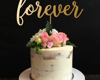 Forever Wedding Cake Topper, Forever Keepsake Wedding Cake Topper
