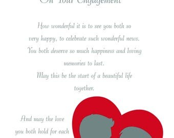 Uncle & Fiance Engagement Card