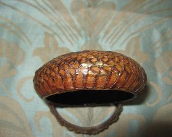 Vintage Snake Skin Bangle/Bracelet