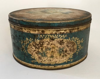 boite métal ronde Gray Dunn product of Scotland cookies biscuits candies iron tin box