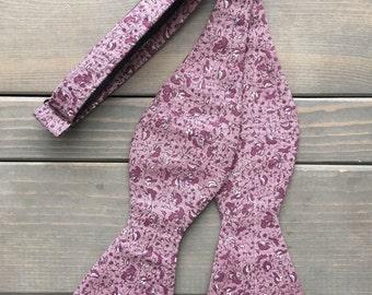 Purple Bow Tie - Bow Tie - Self Tie Bow Tie