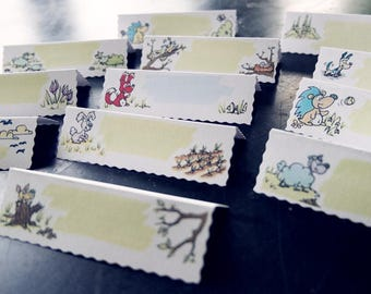 Place cards / Name cards, with Nature & Animals