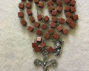 Gold Stone Cube Rosary