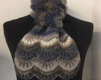 Scalloped Fantasy Scarf Knitting Pattern
