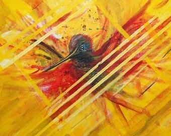 Yellow Hummingbird (Colibri)