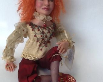 Queen Lizzy ooak art doll
