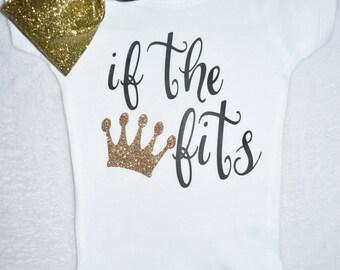 If the Crown Fits onesie (3-6 months)