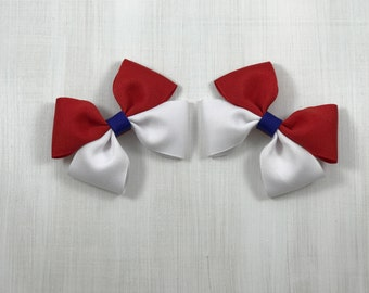 Red and White Boutique Bow