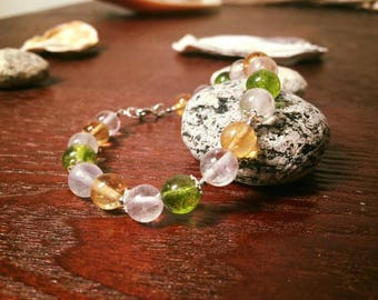Quartz Bracelet with Sterling Silver 925.