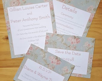 Invitation & Save the Date, Vintage Wedding Stationery