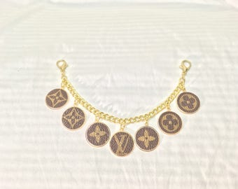 Upcycled Louis Vuitton Monogram Logo Bag Charm Keychain Bag decoration