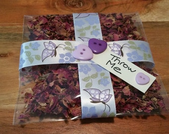 Throw Me Purple Butterfly Confetti Bags with Confetti included