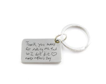 Handwritten Key Chain Your Handwriting Keychain Or Font