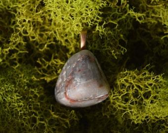 Simple Feldspar Necklace / Minimalist Jewelry