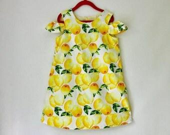 Lemon Summer Dress for Girls