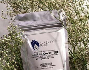 Hair Growth Tea Rinse 8oz or 13oz Bags || Stop Hair Shedding || Dandruff & Flakiness Tonic || Herbal || Hair Conditioner || Itchy Scalp