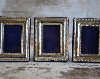 set of 3 miniature framessterling mini photo frames - Mini Picture Frames
