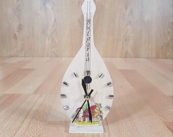 Clock - Violin Clock - Wood Violin - Vintage Clock - Wood Violin Clock - Hand painted Home Decor - Handcrafted clock.