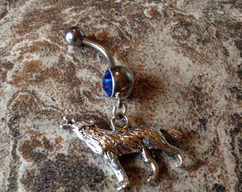 Wolf Belly Ring